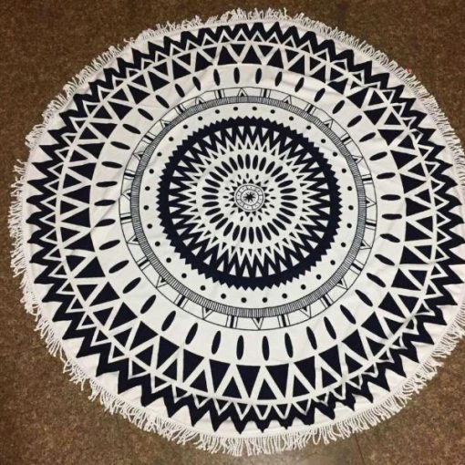 Round aztec Beach Towel