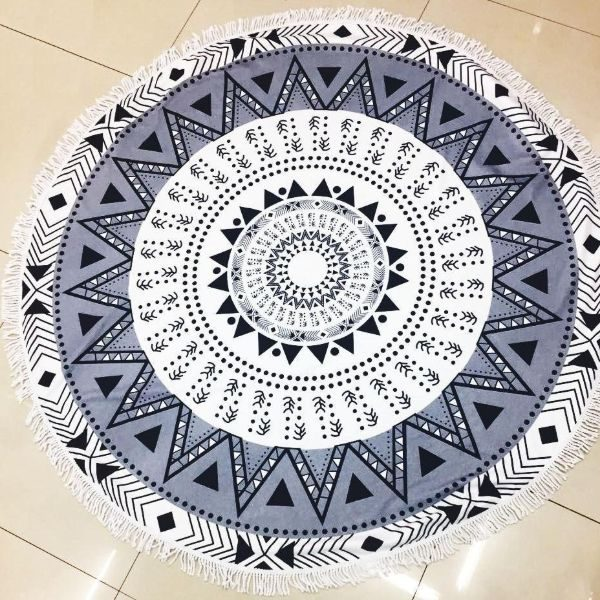 Round circle Beach Towel