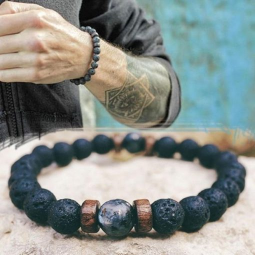 Handmade Tibetan Moonstone Bead Bracelet