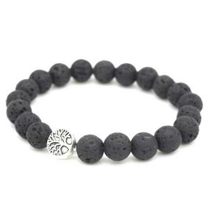 tree of life lava rock essential oil diffuser bracelet