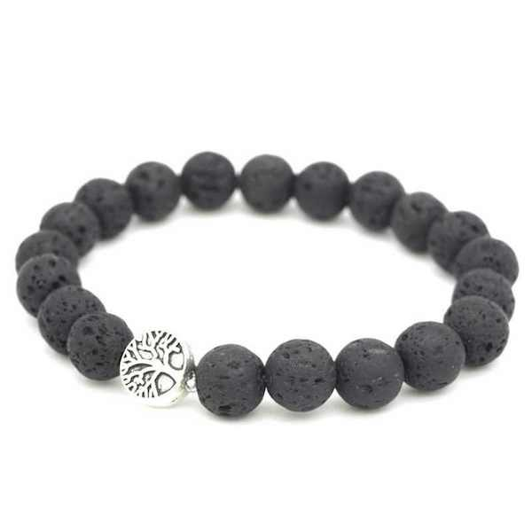 tree of life lava rock essential oil diffuser bracelet