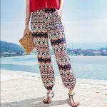 beach boho elastic pant