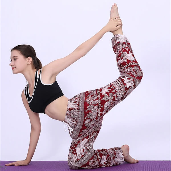 yoga class in elephant pant