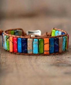 Chakras Leather Bracelet