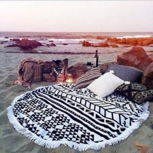 Geometric Beach Towel