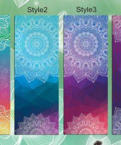 Yoga Mat With Mandala Design