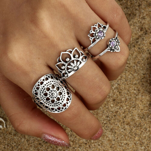 Mandala Rings Set