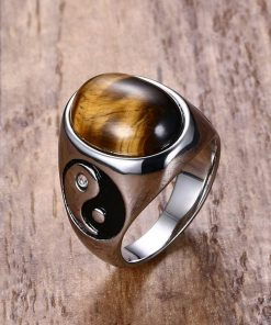 Tiger Eye Stone Ring