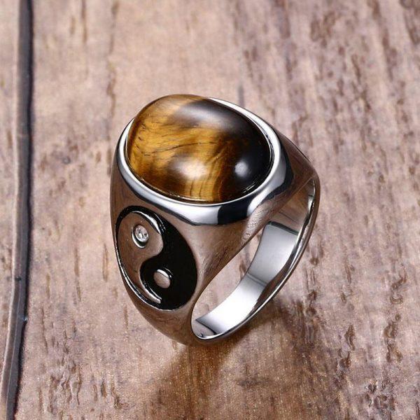 Tiger Eye Stone Ring