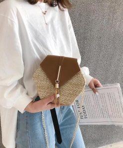 Brown Straw Bag