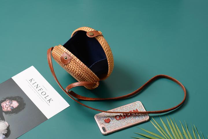 Rattan Straw Handbag