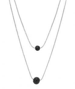 Silver Diffuser Necklace