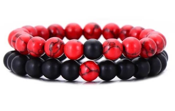 Black And Red Distance Bracelets