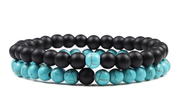 Black And Blue Turquoise Distance Bracelets