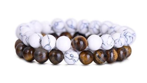 Tiger Eye Stone Distance Bracelets
