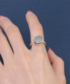 Spinning Mantra Ring in Finger