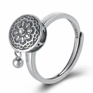 Spinning Buddhist Mantra Ring
