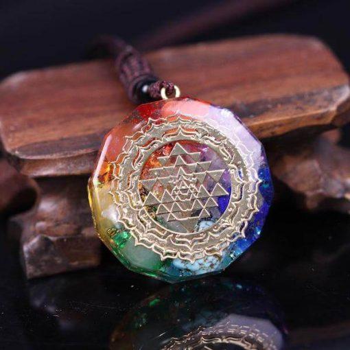 Sri Yantra Orgonite Quartz Necklace