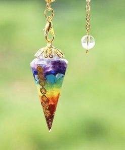 Orgone Pendulum with Chakra Chain