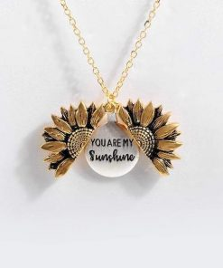 """""""You Are My Sunshine"""" Sunflower Necklace"""