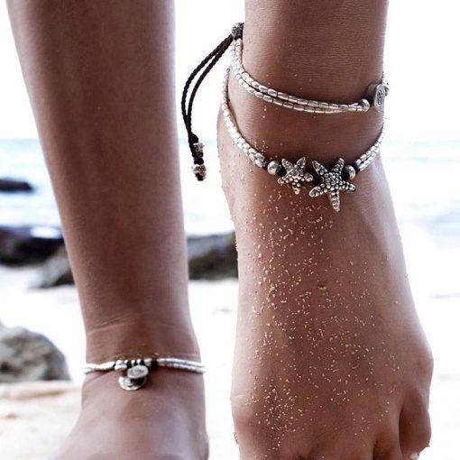 Bohemian starfish anklet