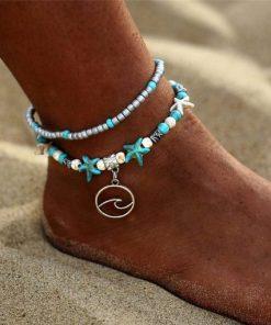 Surf girl anklet