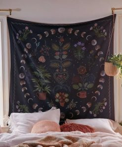 floral-moon-phases-tapestry
